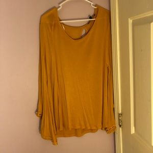 Yellow Bell Sleeve Top